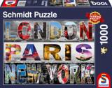 Cumpara ieftin Puzzle London, Paris, New York, 1000 piese, Schmidt