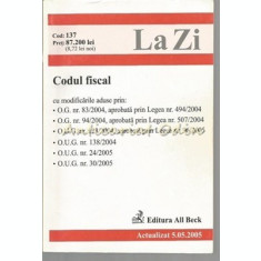 Codul Fiscal - Mai 2005