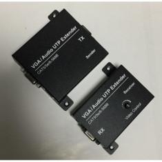 Extender YJS-VGA200M VGA audio activ prin cablu UTP pana la 200 m pentru semnal VGA,SVGA,XGA,UXGA