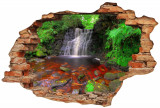 "Sticker ""Wall Crack"" Waterfall 1 - 120 x 80 cm"