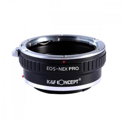 K&F Concept EOS-NEX PRO adaptor montura Canon EOS la Sony E-Mount (NEX) foto