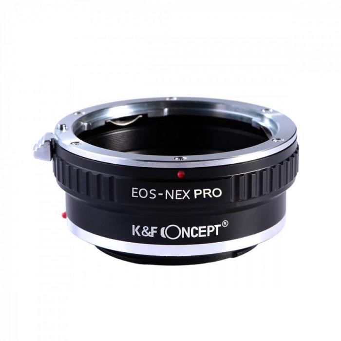 K&F Concept EOS-NEX PRO adaptor montura Canon EOS la Sony E-Mount (NEX)