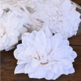 Floare artificiala Dalia premium alb