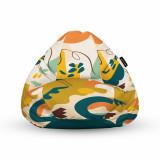 Cumpara ieftin Fotoliu Units Puf (Bean Bag) tip para, impermeabil, cu maner, 80 x 90 x 68 cm, abstract jungle
