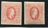 Cumpara ieftin 1865 , ROMANIA , Lp13 , Cuza in Oval 20 PAR - T1+T2 - Nestampilate, Nestampilat