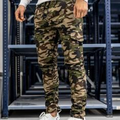 Pantaloni cargo pentru bărbat verzi Bolf 0857