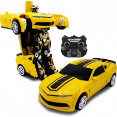 PROMOTIE!ROBOT TRANSFORMERS BUMBLEBEE CU TELECOMANDA,SE FACE DIN ROBOT MASINA!