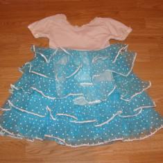 costum carnaval serbare rochie dans flamengo pentru copii de 6-7 ani