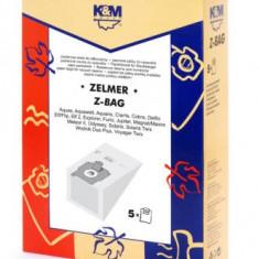 Sac aspirator Zelmer, hartie, 5X saci, K&M
