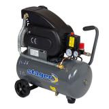 Compresor aer Stager, 1500 W, 8 bar, 24 l, 200 l/min, 2850 rpm, monofazat, angrenare directa