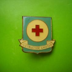 HOPCT ROMANIA INSIGNA CRUCEA ROSIE INSTRUCTOR SANITAR   [ 2 ]