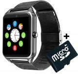 Cumpara ieftin Ceas Smartwatch cu Telefon iUni Z60, Curea Metalica, Touchscreen, Camera, Aluminiu + Card MicroSD 4GB