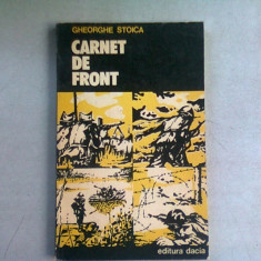 CARNET DE FRONT - GHEORGHE STOICA