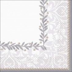Servetele pentru nunta sau petreceri, 25 x 25 cm, Amscan 508285, Set 16 buc