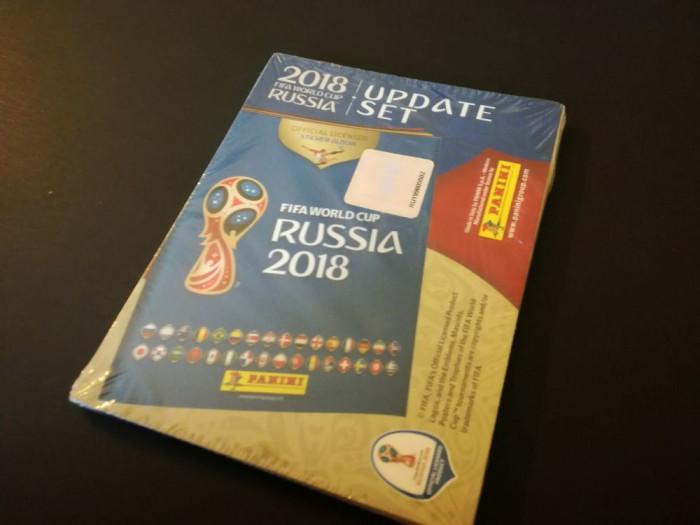 "Set complet sigilat update stickere Panini World Cup 2018 Russia vs.""mini"""
