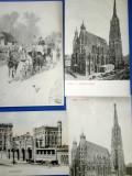 Wiena - sase carti postale 1900, Necirculata, Printata