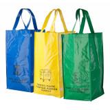 Set 3 sacose pentru deseuri, 690×450×230 mm, Everestus, 20FEB6449, Material netesut, Multicolor, saculet inclus