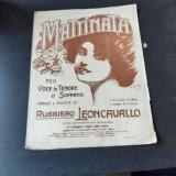 MATTINATA - RUGGIERO LEONCAVALLO PARTITURA SI TEXT PENTRU VOCE DE TENOR SI SOPRANA
