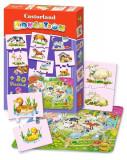 Puzzle -54 piese- Educatie: animale domestice, castorland