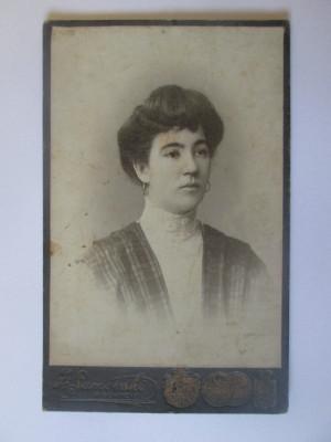 Rară! Fotografie pe carton 108 x 68 mm studio Chisinău(ocup.Austriaca) cca.1900 foto