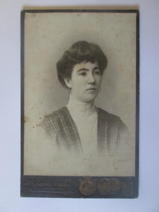 Rară! Fotografie pe carton 108 x 68 mm studio Chisinău(ocup.Austriaca) cca.1900