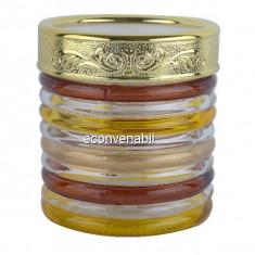 Recipent condimente din sticla pictata cu capac Peterhof PH10022 850ml