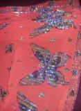 Fusta plisata cu pliuri TIGANCA,Fusta TIGANCA veche tip SORT Fluturi color,T.GRA