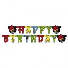 Banner Party Angry Birds Happy Birthday 1.8 m foto