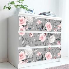 Stickere pentru mobila Trandafir Roz 20x80 cm x 3 bucati