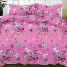 Lenjerie de pat pentru o persoana cu husa de perna dreptunghiulara, Letti, bumbac mercerizat, multicolor