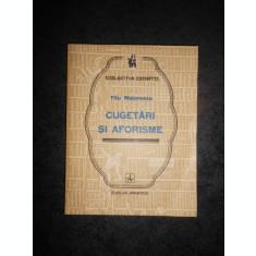 TITU MAIORESCU - CUGETARI SI AFORISME (Colectia COGITO)