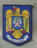 Y 1855 EMBLEMA BRODATA, PENTRU MANECA - POLITIA ROMANA -PENTRU COLECTIONARI
