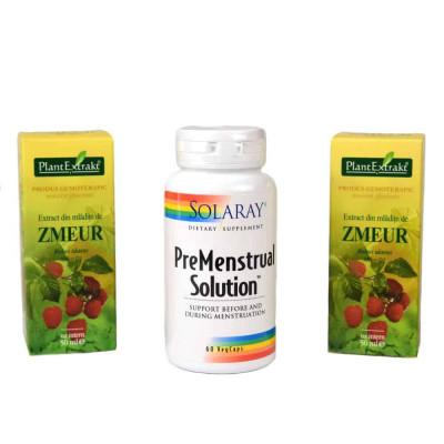 Pachet Premestrual, Premestrual Solution + Extract din mladite de zmeur foto
