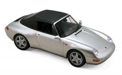 Macheta Auto Norev, Porsche 911 Cabriolet 1994 - Gri 1:18 foto