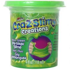 Borcanel cu Slime Neon Cra-Z-Slimy Verde Neon