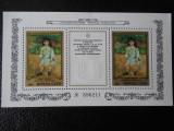 URSS-PICTURI FRANCEZE LA ERMITAJ-BLOC NESTAMPILAT