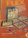1989, Reclama joc FLEX comunism JECO 27x20 cm export EXIMCOOP C7