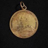 Medalie Carol I - Alexandru - 1907 - In amintirea luarii Grivitei - rara