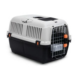 Cusca transport animale ,Bracco Travel 3, usa metal , Gri Negru 60 x 40 x 38.5 cm Pet Star