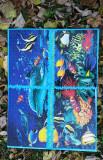 Tablou canvas handmade cu puzzle integrat. Marimi: L= 73 cm; l= 53 cm., Nonfigurativ, Acrilic, Art Deco