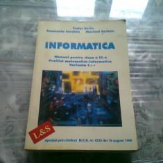 Informatica Manual pentru clasa a IX-a - Tudor Sorin, Emanuela Cherchez ai Marinel Serban