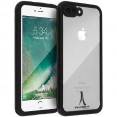 Husa Waterproof IP68 Shockproof AKASHI iPhone 8 plus / 7 plus, Black/ Clear