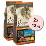 Cumpara ieftin Primordial GF Adult Trout & Duck 2 x 12 kg