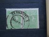 1920-Romania-Ferdinand Bust mic 2 lei per-stampilate CERNAUTI-RAR