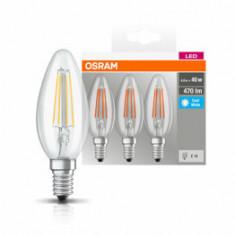 Set 3 becuri Led Osram, E14, , 4W, 470 lumeni, lumina neutra
