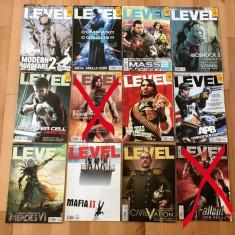 Lot 10 reviste Level - toate din anul 2010