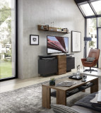 Set de mobila living din pal si MDF, 4 piese Madeline Havel Oak Cognac / Grafit