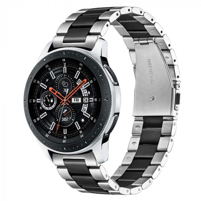 Curea metalica 22mm ceas Samsung Galaxy Watch 3 46mm Gear S3 Frontier Huawei GT