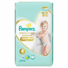 Scutece Pampers Premium Care Pants 4 Mega Box, 58 buc/pachet