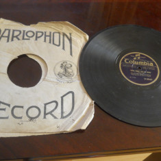 Placa patefon/gramofon Columbia-Zavaidoc  Theodorescu